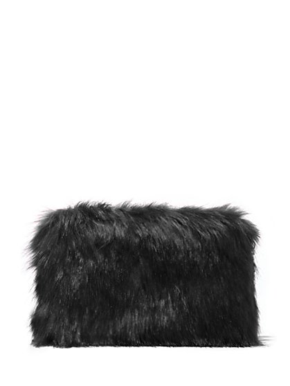 Plus Size Faux-Fur Hard Clutch - Fashion To Figure