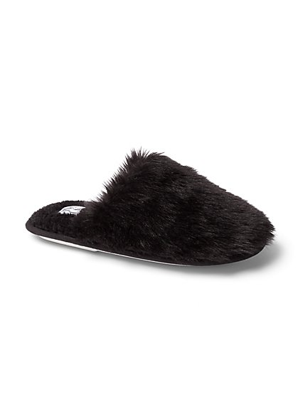 Plus Size Faux-Fur Slippers - Fashion To Figure