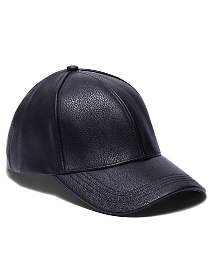 Plus Size Faux Leather Baseball Cap - Fashion To Figure