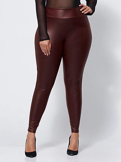 Plus Size Faux-Leather Leggings - Fashion To Figure