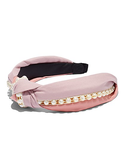 Plus Size Faux-Pearl Headband - Fashion To Figure