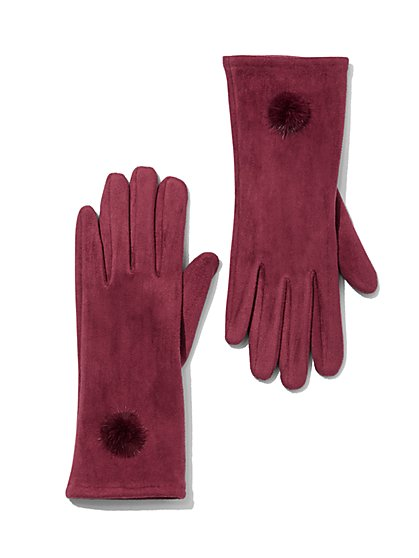 Plus Size Faux-Suede Gloves - Fashion To Figure
