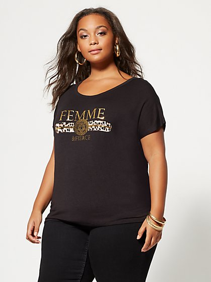 Plus Size Femme and Fierce Tee - Fashion To Figure