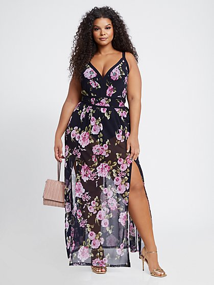 Plus Size Fiona Floral Maxi Dress - Fashion To Figure