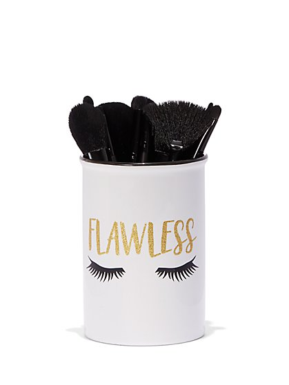 Plus Size Flawless Ceramic Makeup Brush Cup - Fashion To Figure