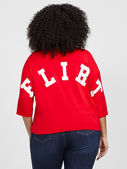Plus Size Flirt Back Tee - Fashion To Figure