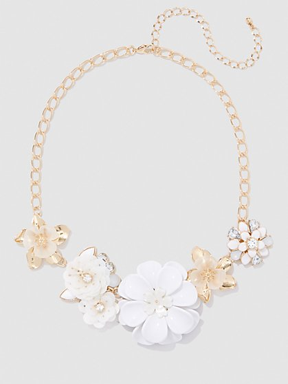 Plus Size Floral Chain Necklace - Fashion To Figure