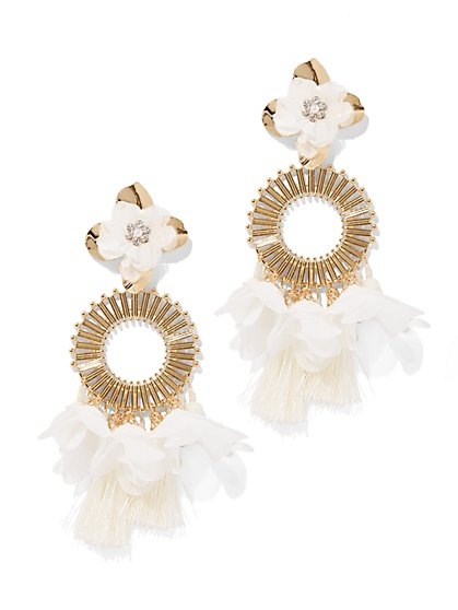 Plus Size Floral Fringe Earring - Fashion To Figure