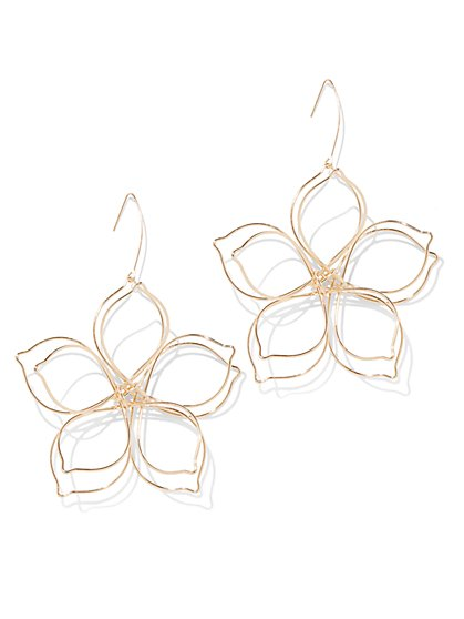 Plus Size Floral Wire Earring - Fashion To Figure