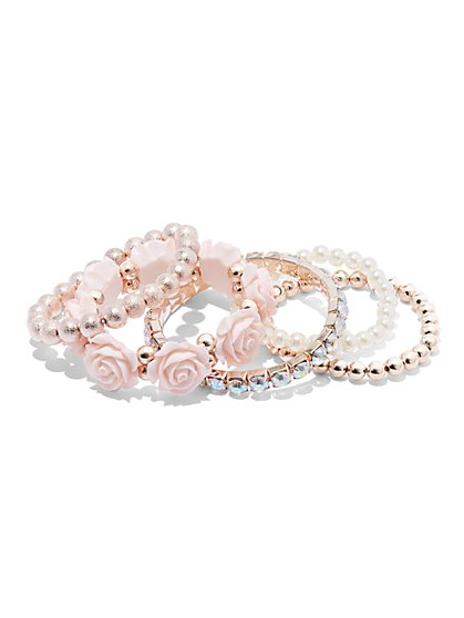 Plus Size Flower Bracelet Set - Fashion To Figure