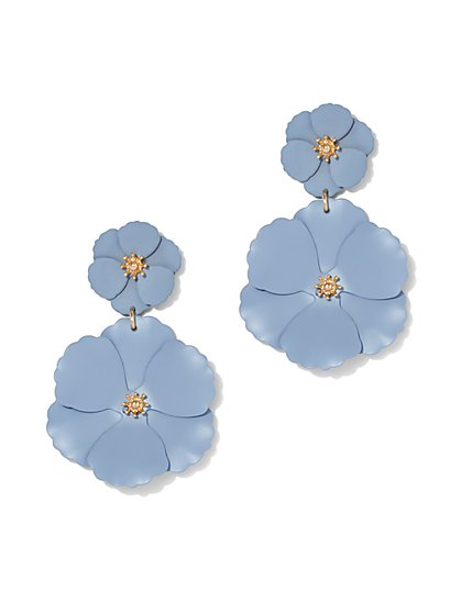 Plus Size Flower Petal Drop Earrings - Fashion To Figure