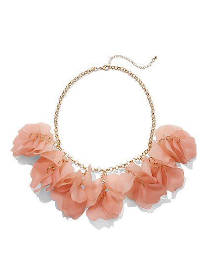 Plus Size Flower Petal Statement Necklace - Fashion To Figure