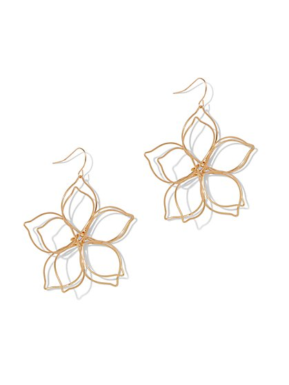 Plus Size Flower Wire Earrings - Fashion To Figure