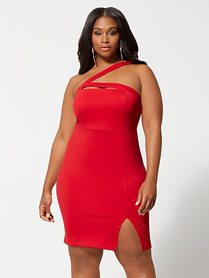Plus Size Francisca Cut-Out Bodycon Dress - Fashion To Figure