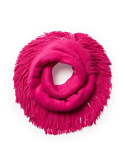 Plus Size Fringe Infinity Scarf - Fashion To Figure