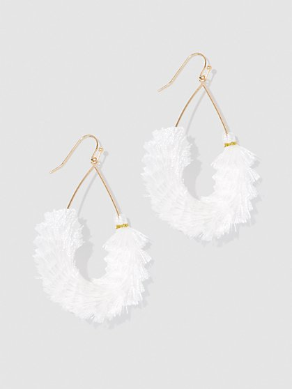 Plus Size Fringe Teardrop Earrings - Fashion To Figure