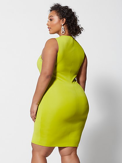 cad7f7f4bbbea ... Plus Size Genevieve Stud Detail Bodycon Dress - Fashion To Figure ...