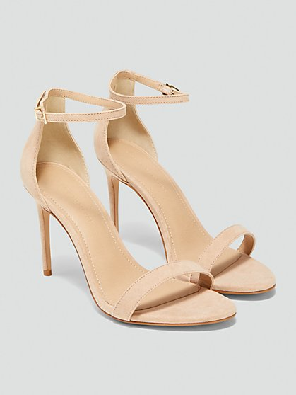 Plus Size Gesa Open Toe Stiletto Heels with Ankle Strap - Fashion To Figure