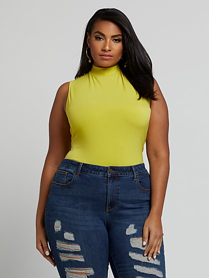 Plus Size Gia Mock Neck Knit Top - Fashion To Figure