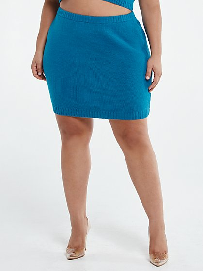 Plus Size Gigi Sweater Skirt - Fashion To Figure
