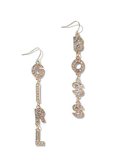 Plus Size Girl Boss Dangle Earrings - Fashion To Figure
