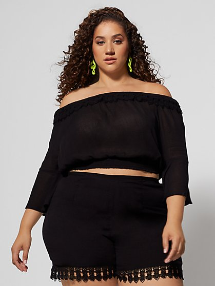 Plus Size Gisela Off Shoulder Top - Fashion To Figure