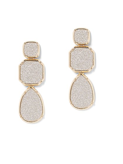 Plus Size Glitter Drop Earrings - Fashion To Figure
