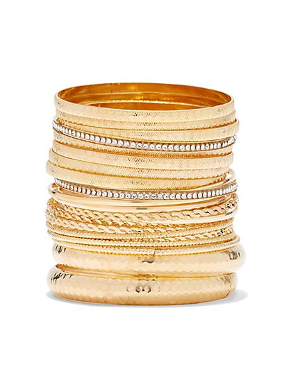 Plus Size Gold Bracelet Set - Fashion To Figure