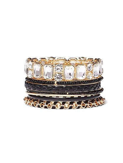 Plus Size Gold-Tone 7 Bracelet Set - Fashion To Figure