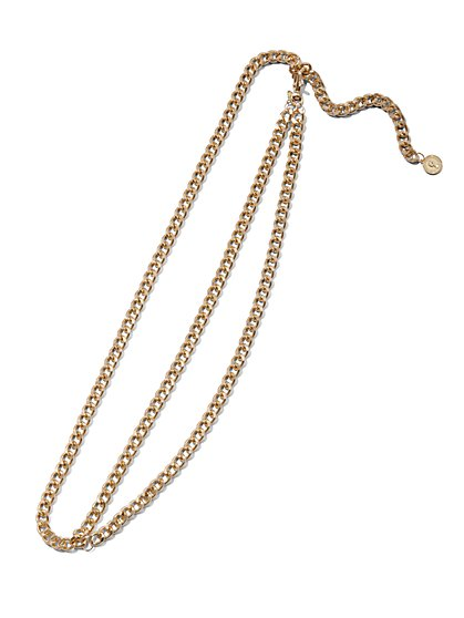 Plus Size Gold-Tone Chain Belt - Fashion To Figure