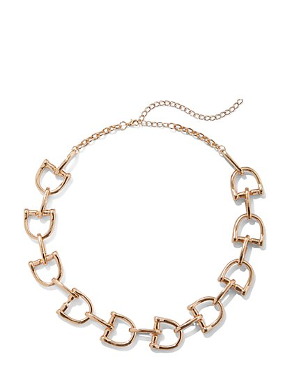 Plus Size Gold-Tone Chain Link Necklace - Fashion To Figure