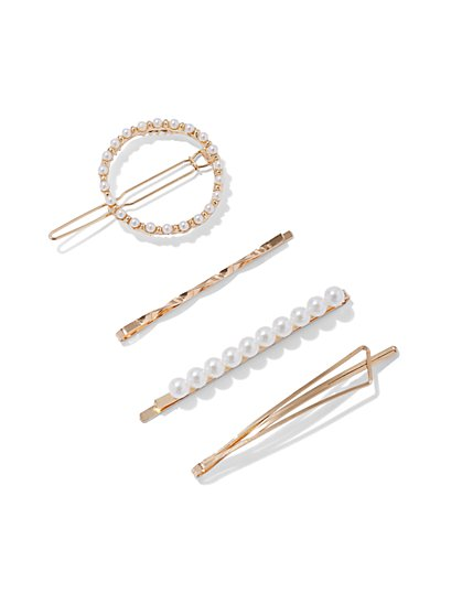 Plus Size Gold-Tone Hair Pin Set of 4 - Fashion To Figure