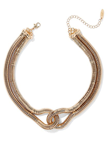 Plus Size Gold-Tone Knot Necklace - Fashion To Figure
