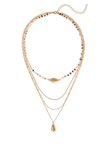 Plus Size Gold-Tone Layered Necklace - Fashion To Figure