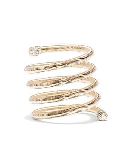 Plus Size Gold-Tone Spiral Bracelet - Fashion To Figure