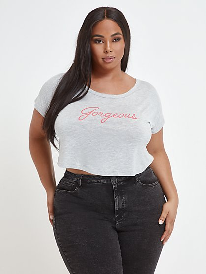 Plus Size Gorgeous Crop Tee - Fashion To Figure
