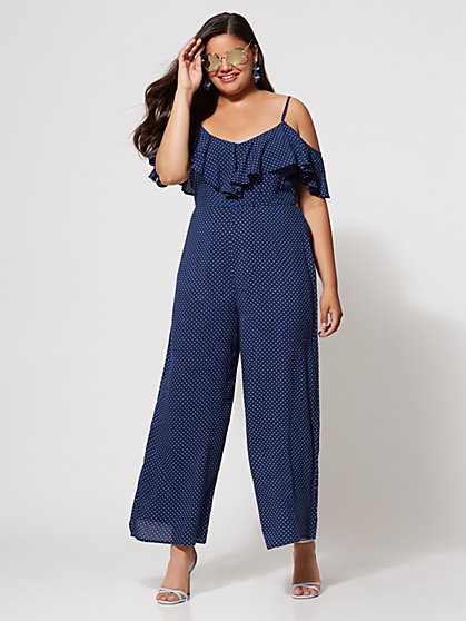 Plus Size Grace Polka Dot Jumpsuit - Fashion To Figure