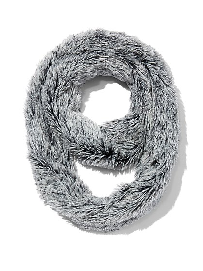 Plus Size Grey Infinity Scarf - Fashion To Figure