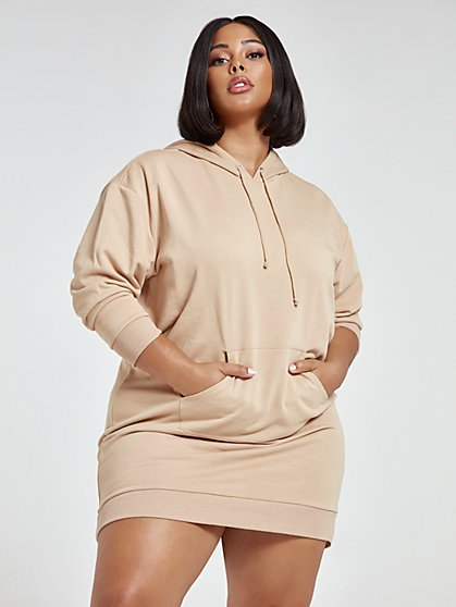 Plus Size Hailey Hooded Sweatshirt Dress - Fashion To Figure
