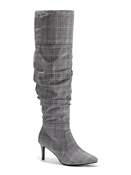 Plus Size Hailey Over-The-Knee Sock Boots - Wide Width - Fashion To Figure