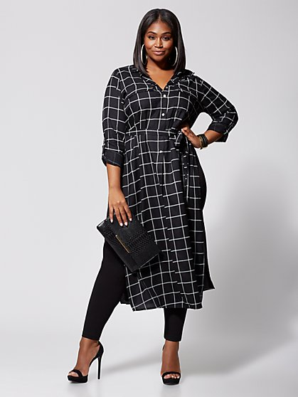 Plus Size Halle Tie-Waist Duster - Fashion To Figure