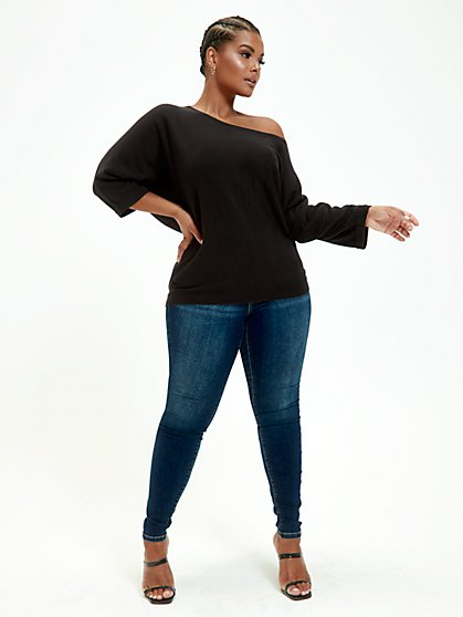 Plus Size Hannah Easy Dolman Sweater - Fashion To Figure