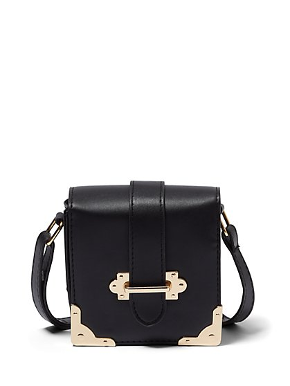 Plus Size Hardware Detail Crossbody Bag - Fashion To Figure