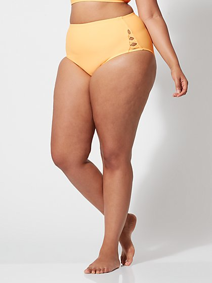 Plus Size Hattie High-Waist Bikini Bottom - Fashion To Figure