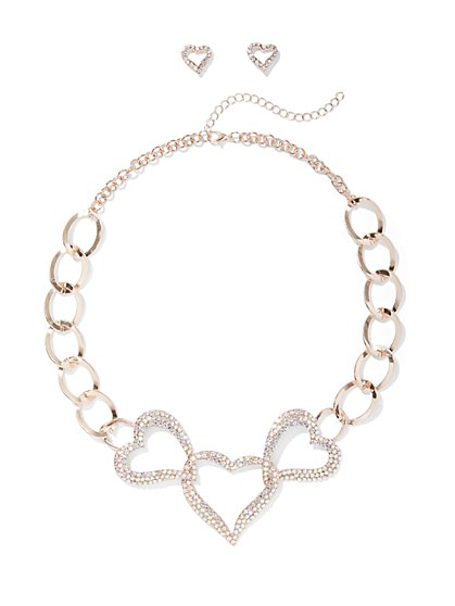 Plus Size Heart Chain Necklace - Fashion To Figure