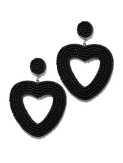 Plus Size Heart Drop Earrings - Fashion To Figure