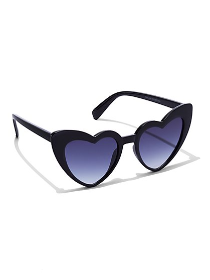 Plus Size Heart Shaped Sunglasses - Fashion To Figure