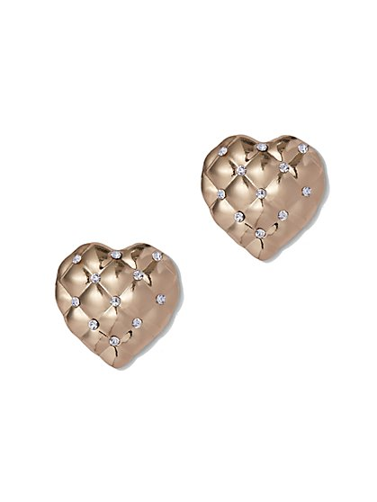 Plus Size Heart Stud Earrings - Fashion To Figure