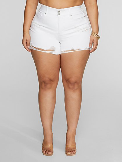 Plus Size High-Rise Curvy Shorts - Fashion To Figure