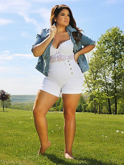 Plus Size High Rise Sailor Shorts - Fashion To Figure